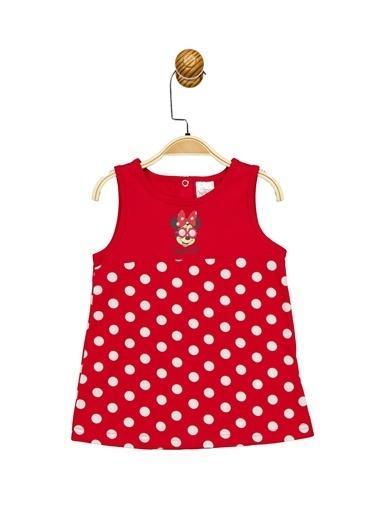 Minnie Mouse Lisanslı Bebek Elbise 17358 Kırmızı